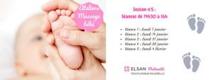 Ateliers massage bébé - Session n°5