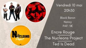 Encre Rouge X The Nucleons Project X Ted Is Dead